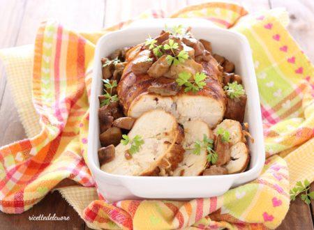 Roast beef di pollo ai porcini