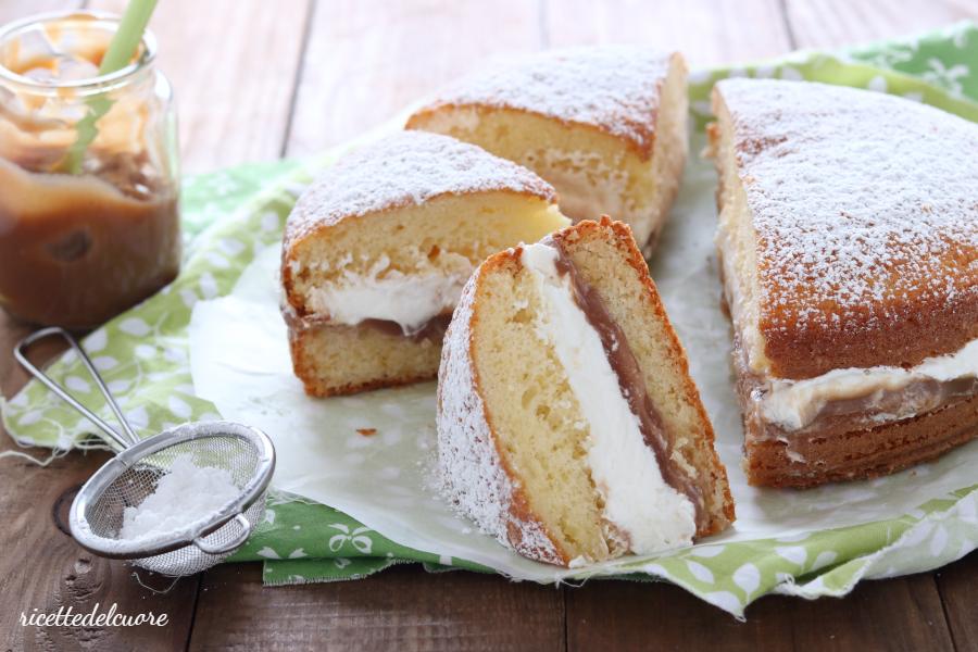 Torta paradiso con crema di castagne