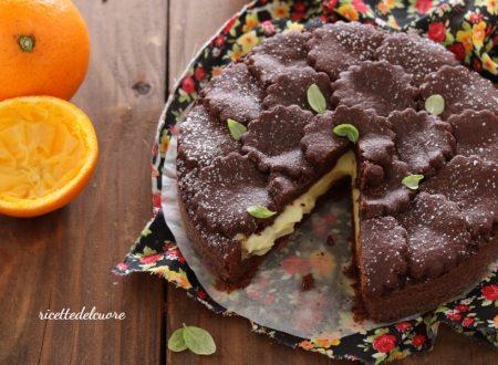 Crostata cacao e crema all'arancia