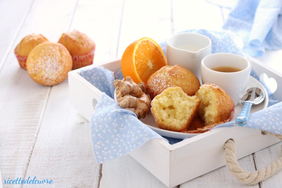 Muffins all'arancia e zenzero
