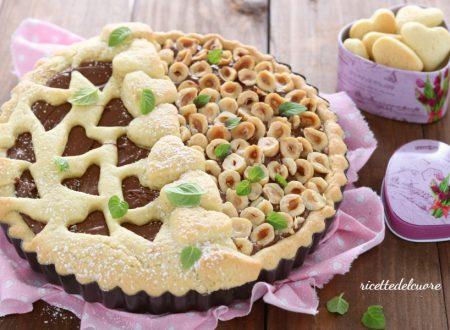 Crostata alla Nutella e nocciole