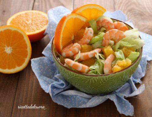 Insalata di arance e gamberetti