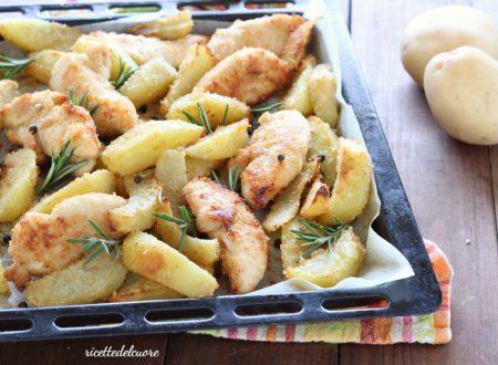 Pollo e patate gratinati al forno