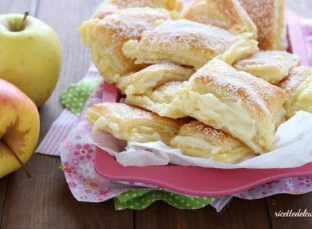 Quadrotti di sfoglia crema e mele