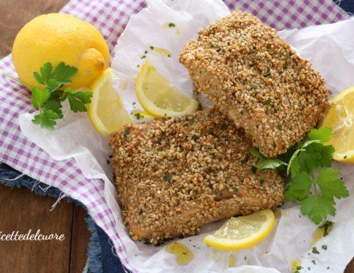 Filetti di salmone al sesamo