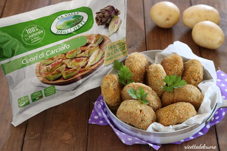 Crocchette di patate e carciofi