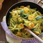 Trofie allo zafferano zucchine e gamberetti