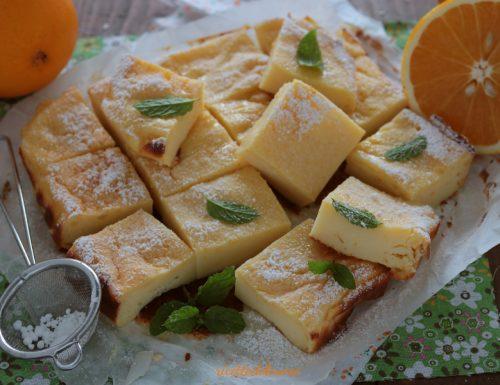 Quadrotti ricotta e arancia