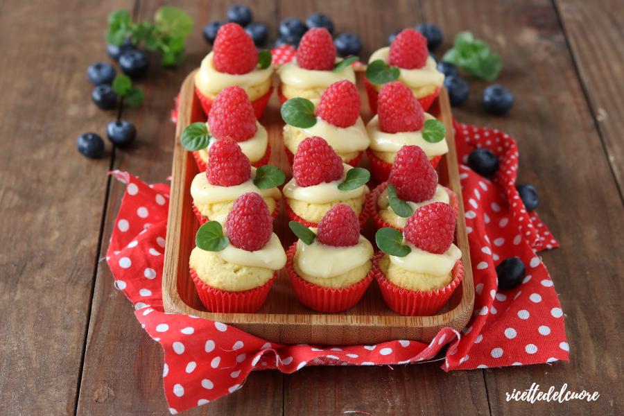 Tartellette crema e frutta