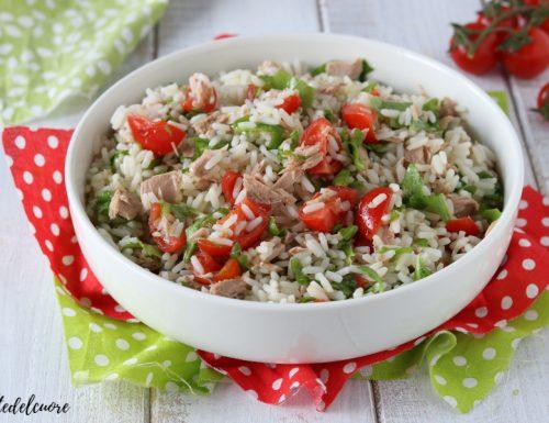 Insalata di riso mediterranea RICETTA primo piatto freddo estivo