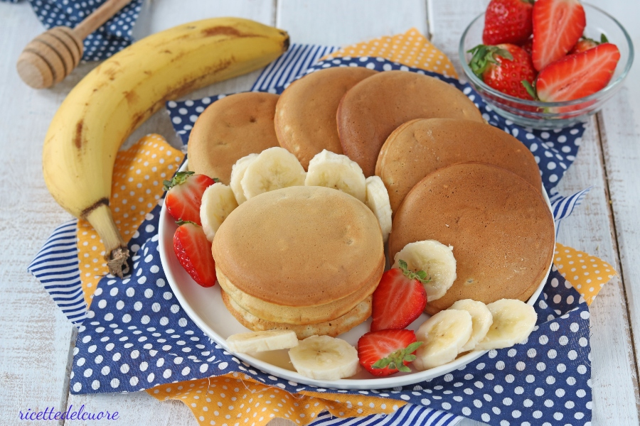 pancake con banana