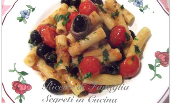 Pasta olive e acciughe sprint