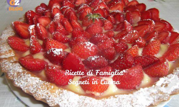 Crostata con Crema Pasticcera al Limoncello e Fragole