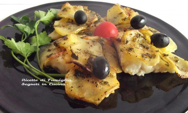 Filetti di Merluzzo in Crosta di Patate e Olive
