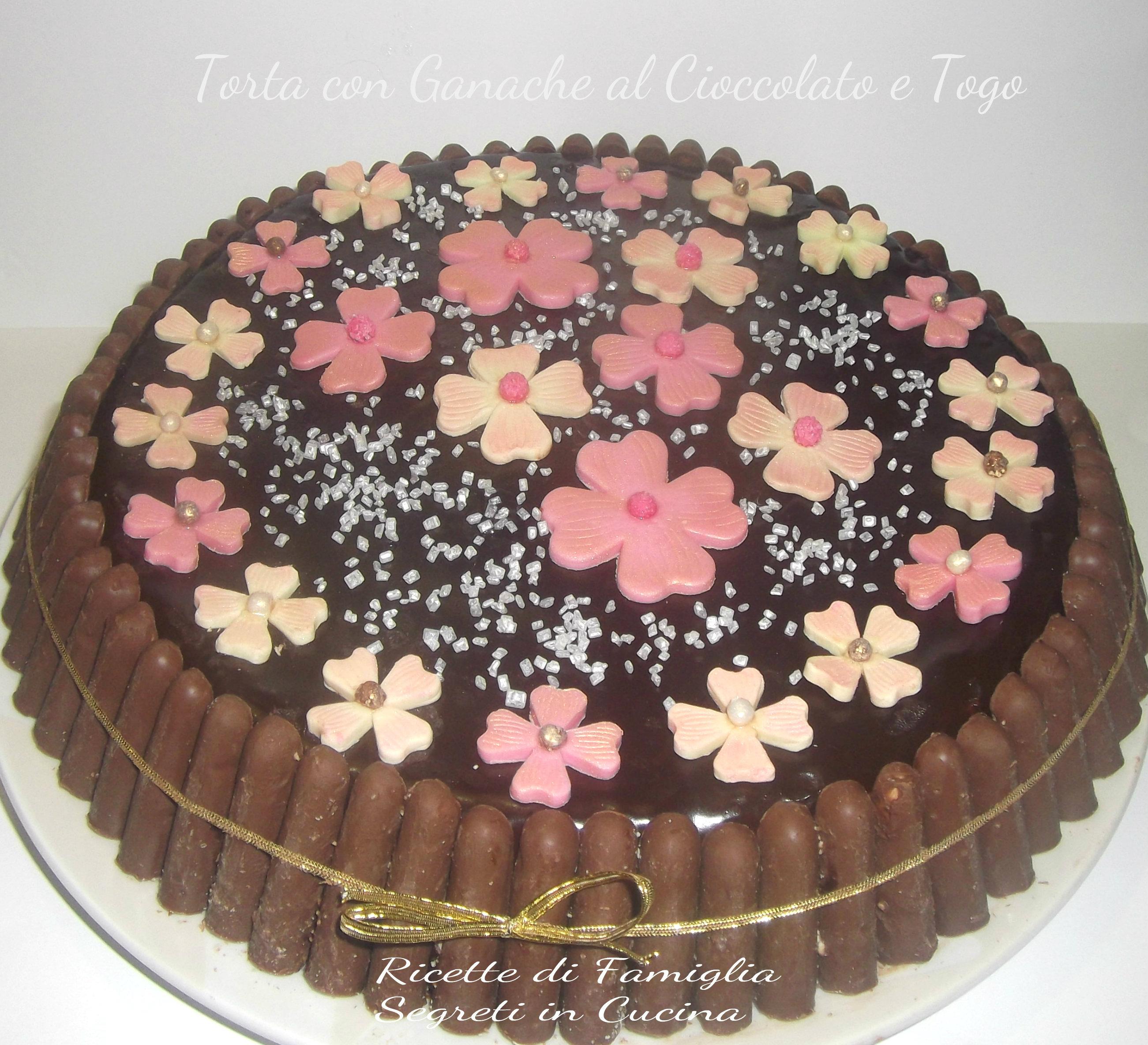 Torta con ganache al cioccolato e togo ricette di famiglia segreti in cucina - Bagno per torte senza liquore ...