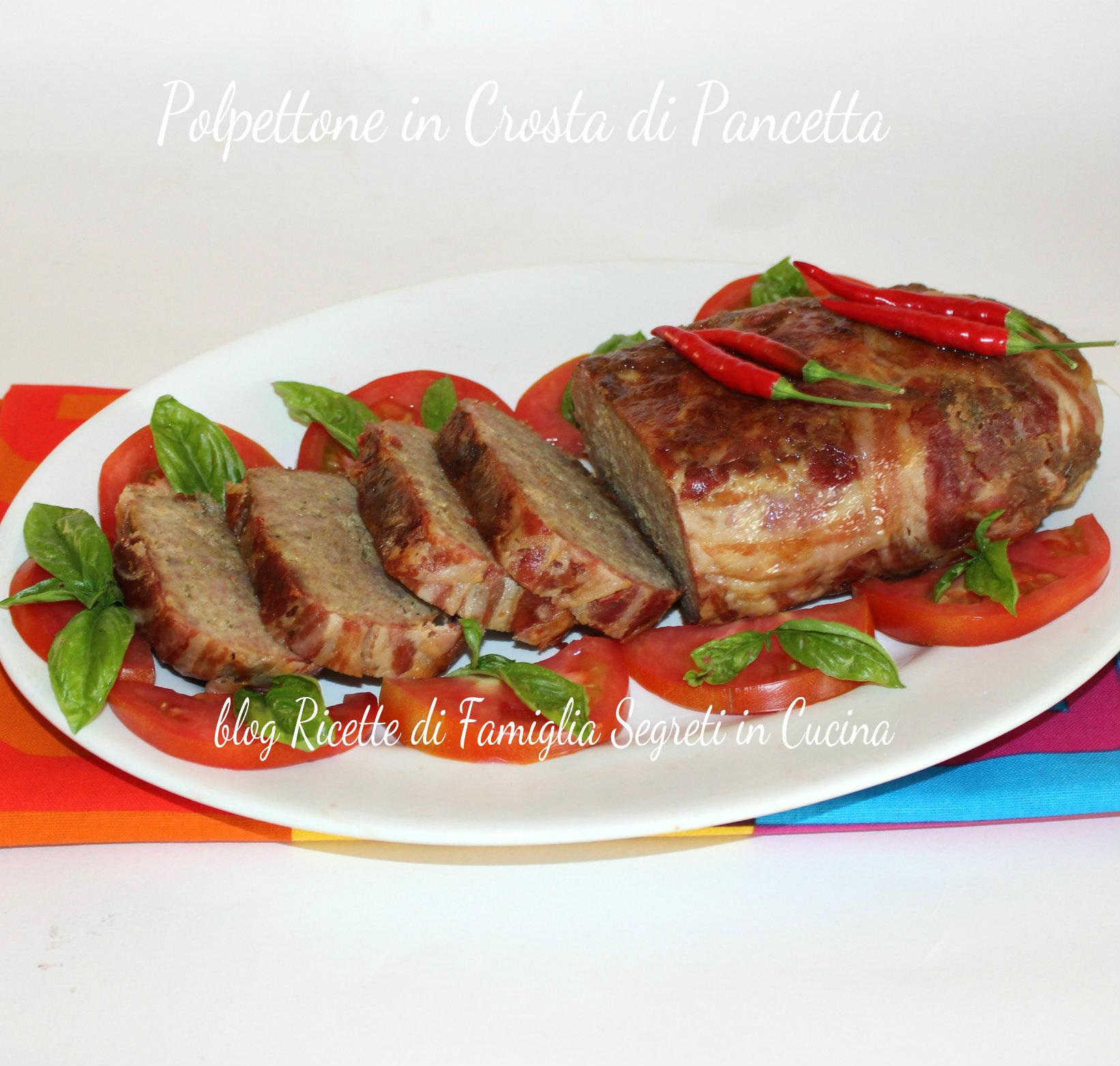 Polpettone In Crosta Di Pancetta: Ricetta Secondi – Ricetta Carni  #B23019 1642 1563 Polpettone Classico Cucina