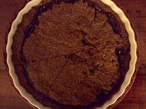 Crostata al cacao con confettura di abicocche