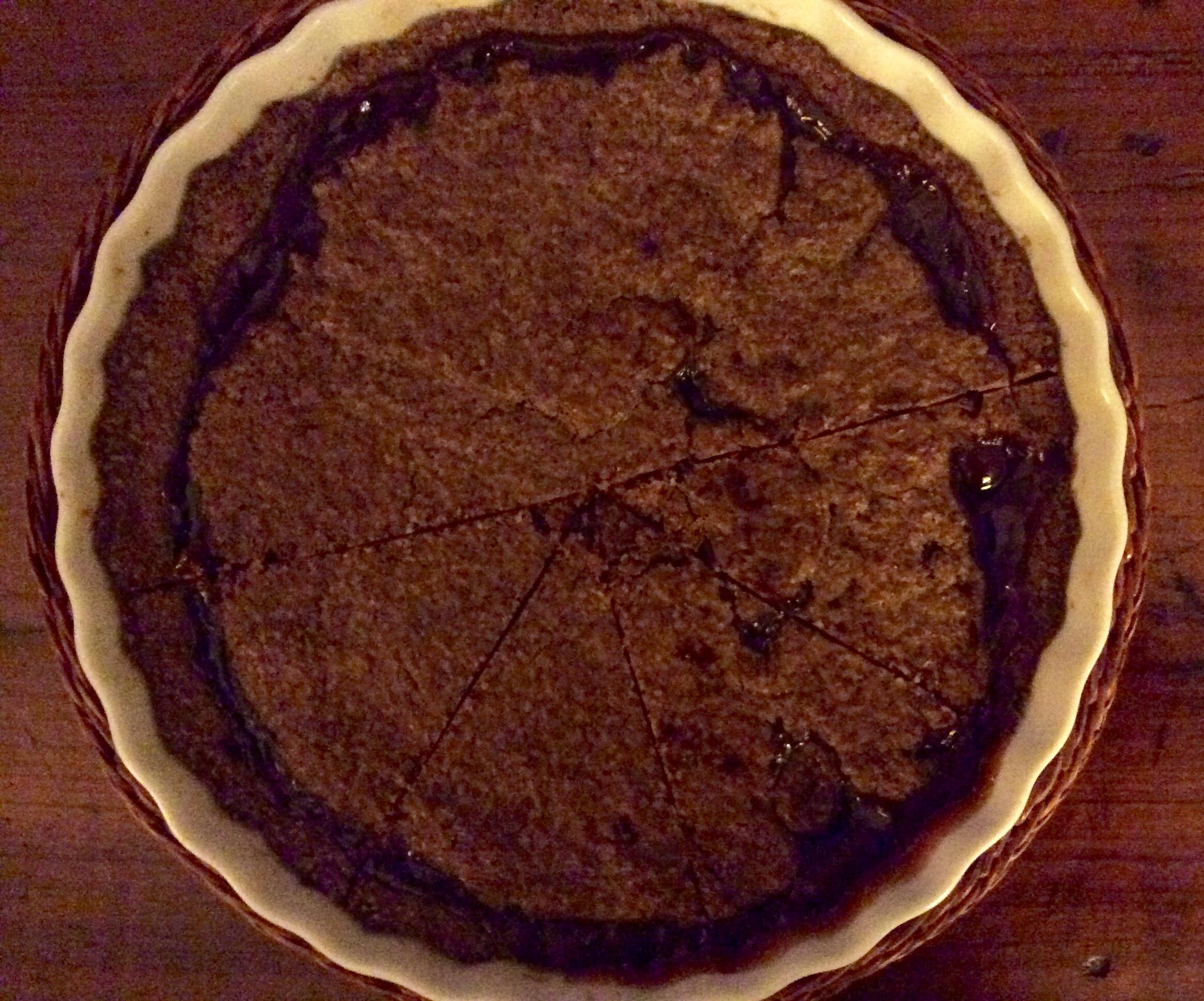 Crostata al cioccoalto con confettura di Albicocca