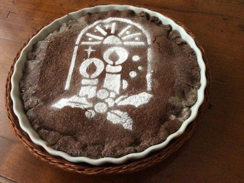 Crostata al cacao con crema di ricotta e mascarpone