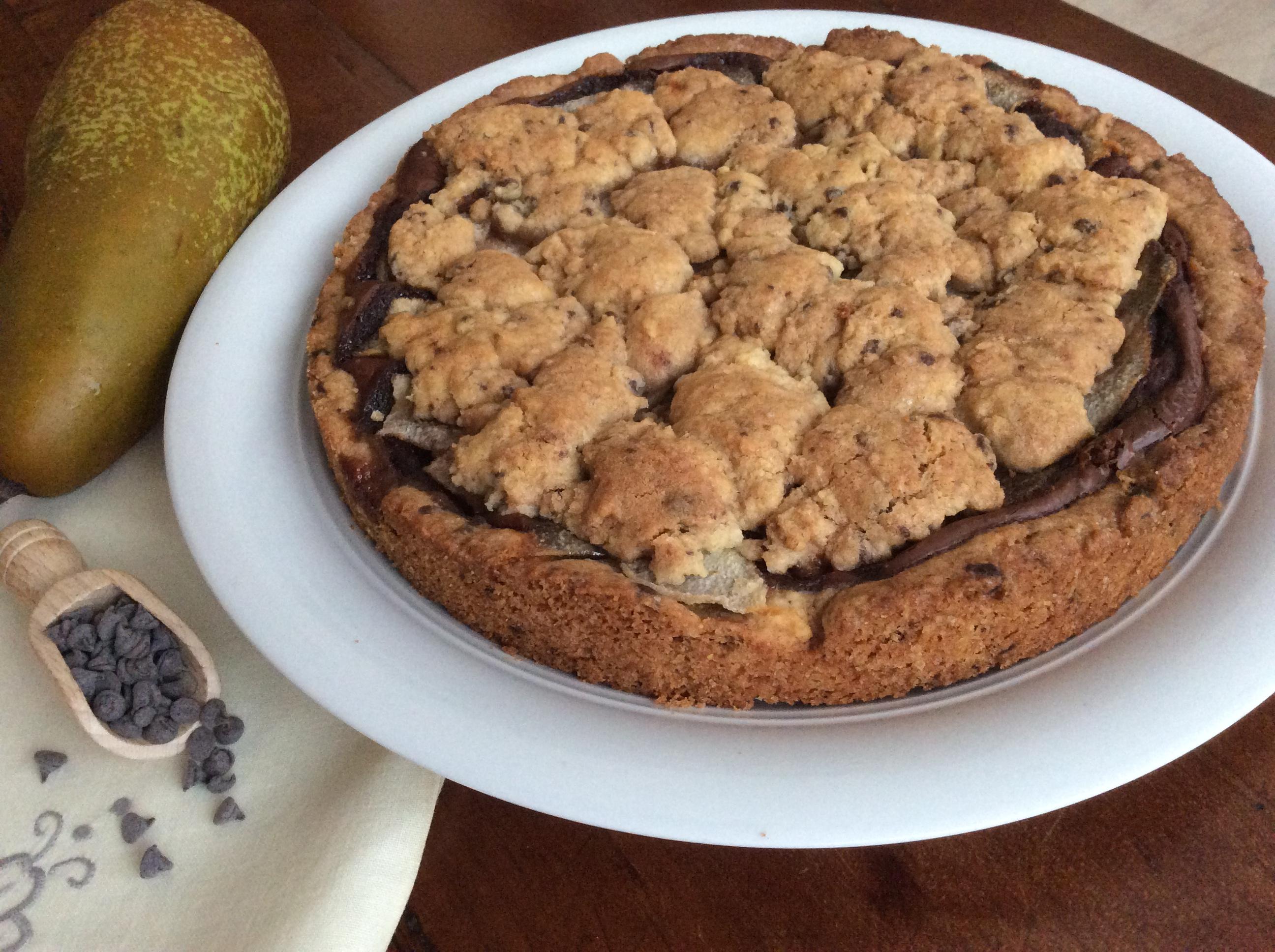 Crostata cookie nutella e pere