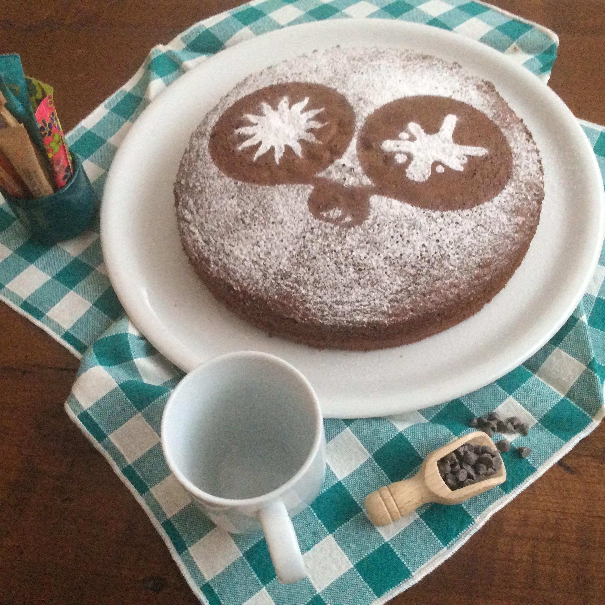 Hot dark chocolate cake
