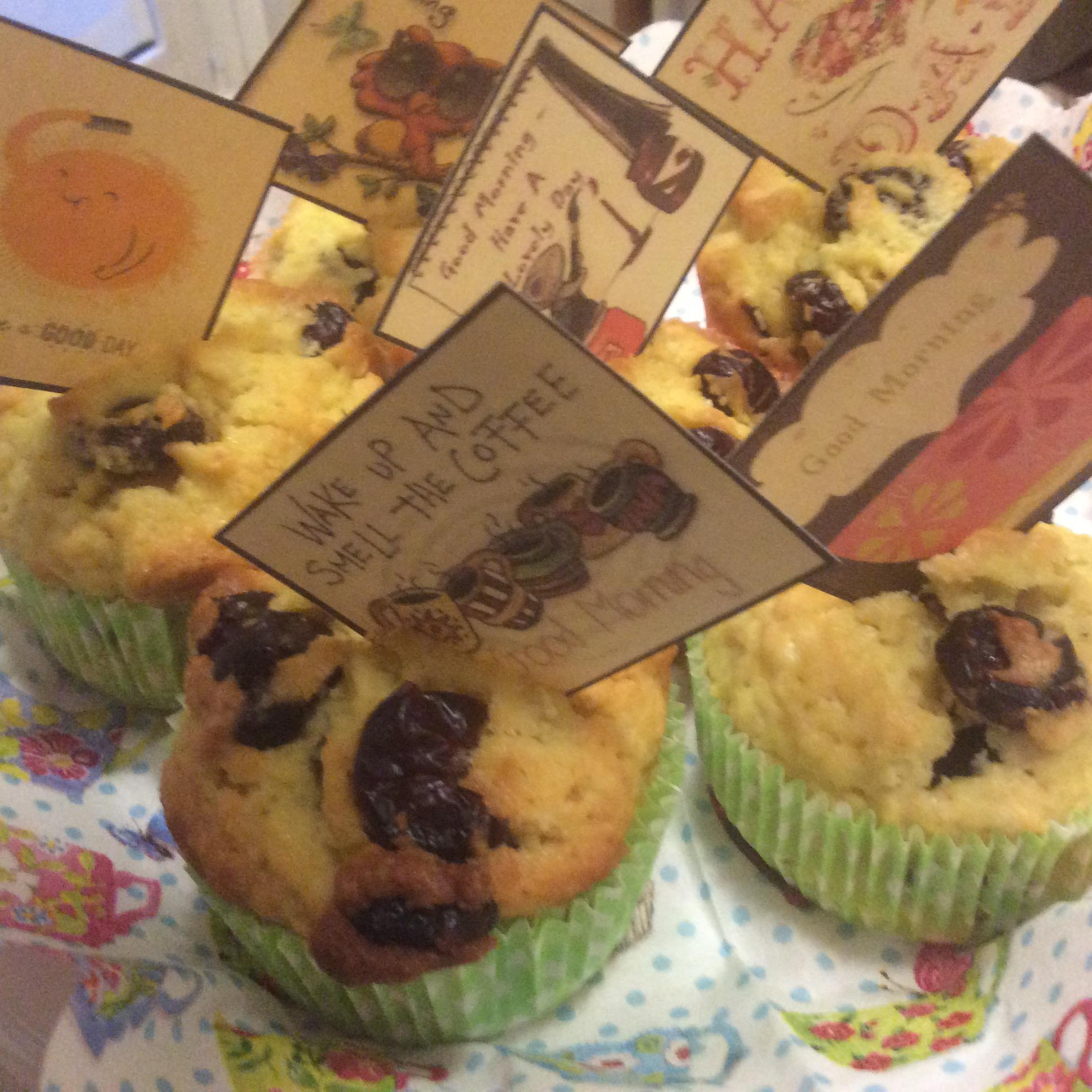 Muffin con mirtilli rossi