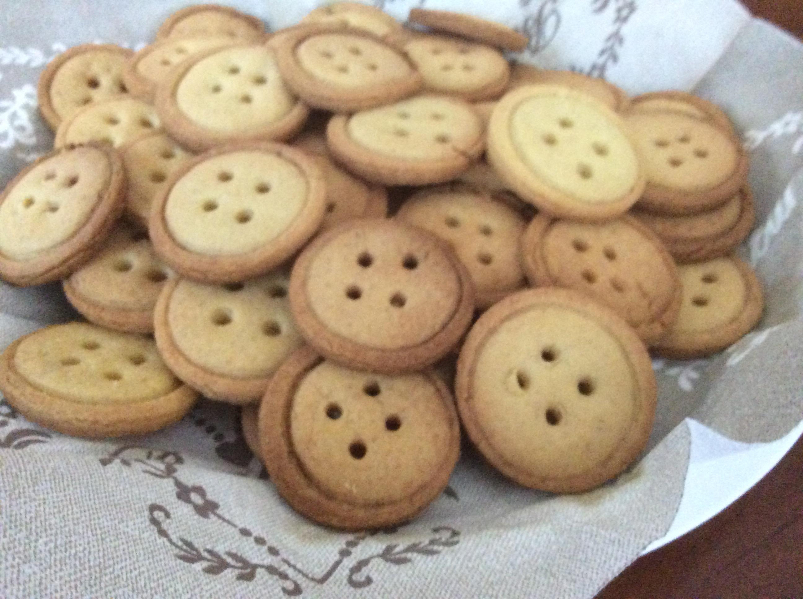 Biscotti a bottone senza filo