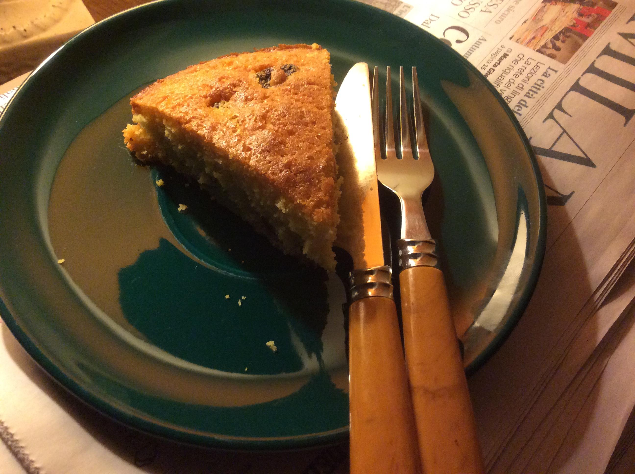 Torta rustica con farina di mais