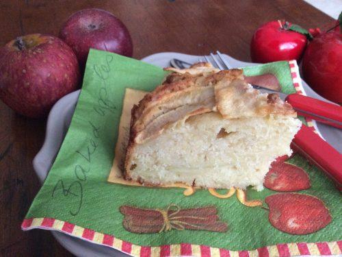 Torta di mele con farina di cocco e mandorle