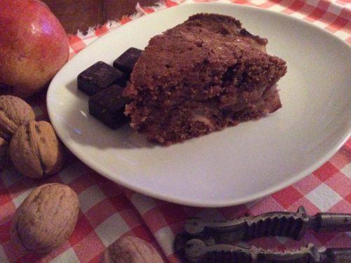 Torta pere cioccolato  e noci
