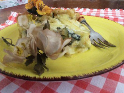 Torta rustica cremosa con zucchine