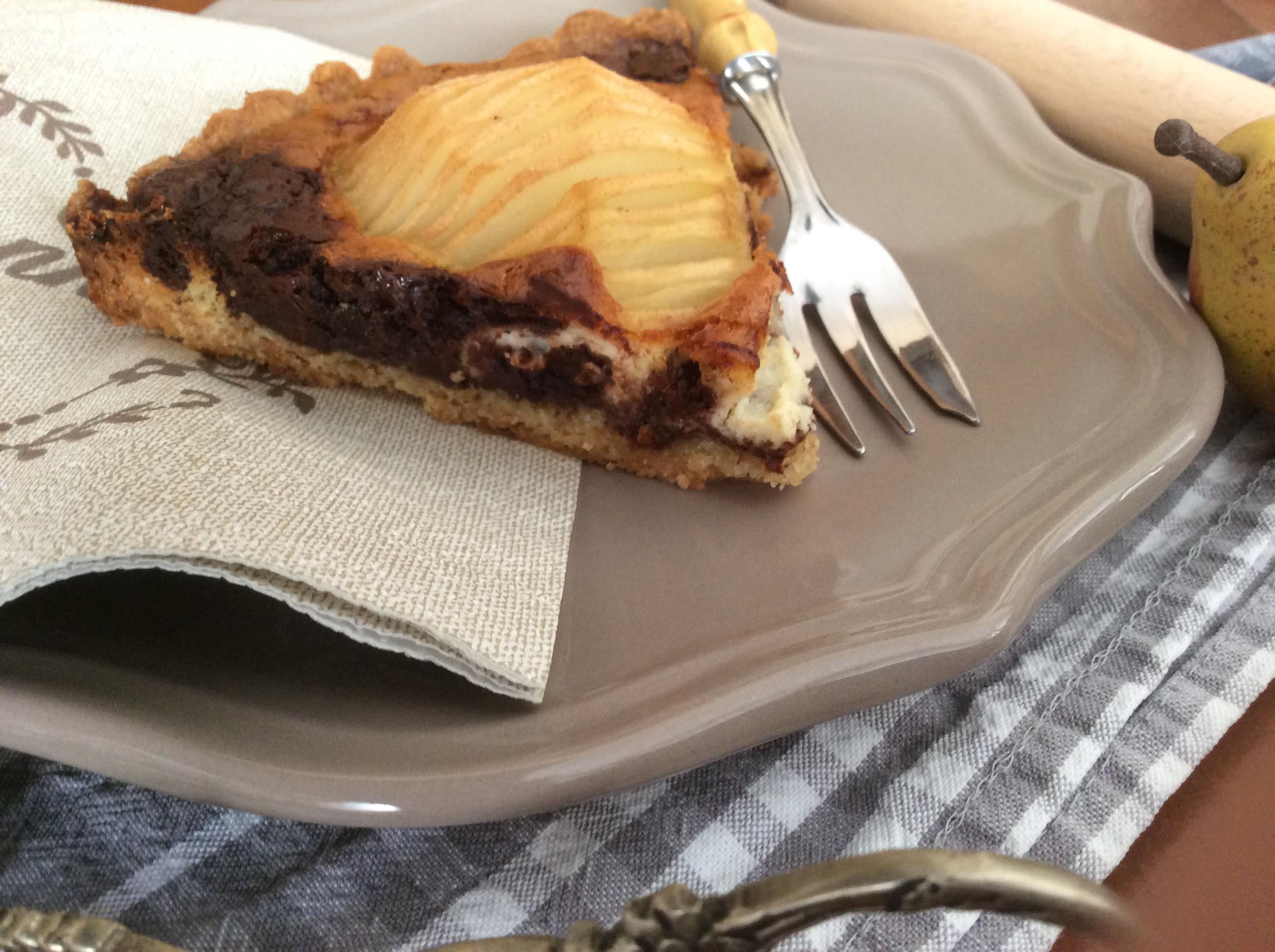crostata-pere-crema-cioccolato-fetta