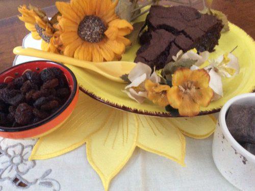 Cremosa cioccolato fondente e uvetta