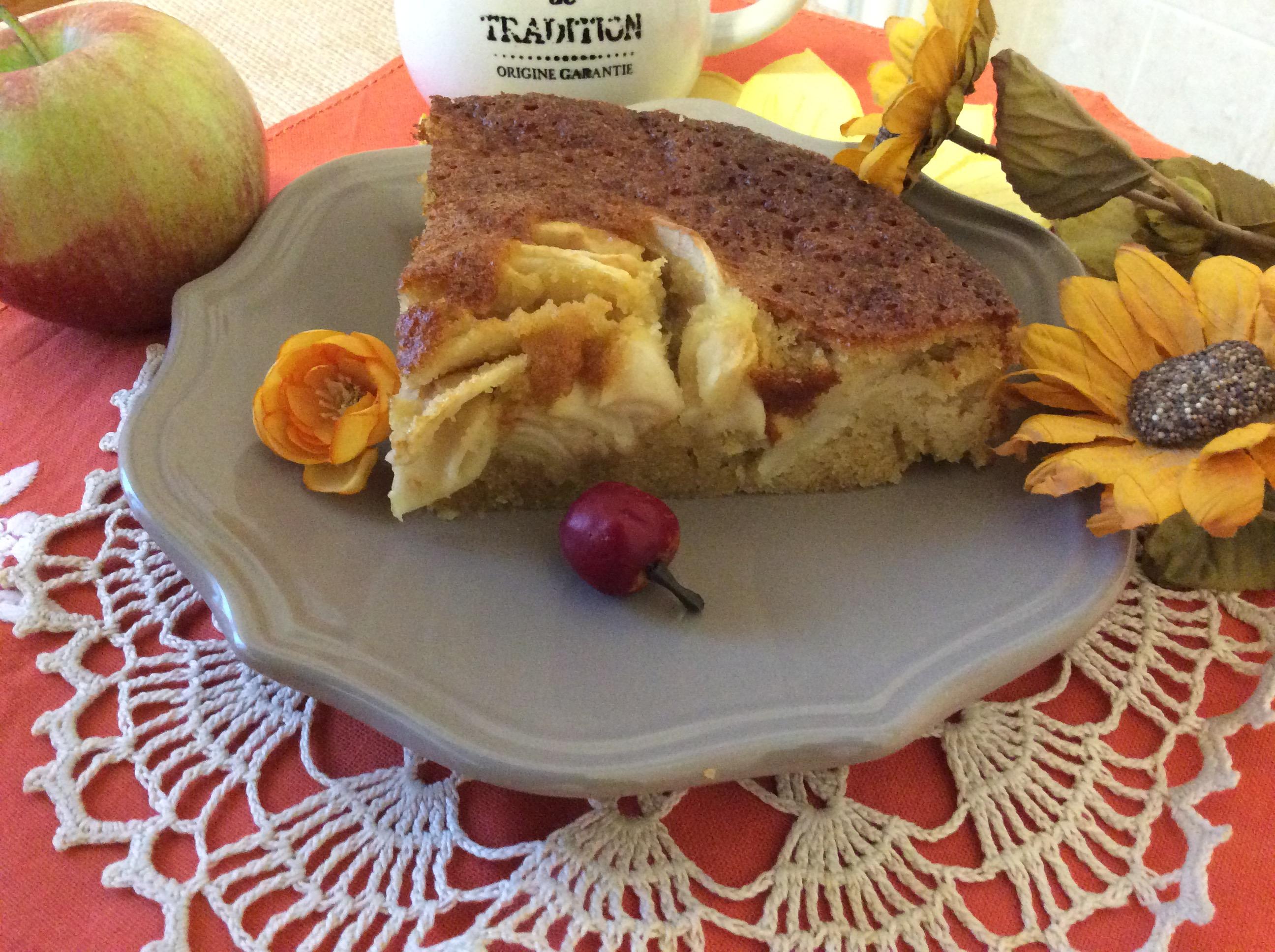 fetta cotta torta di mele