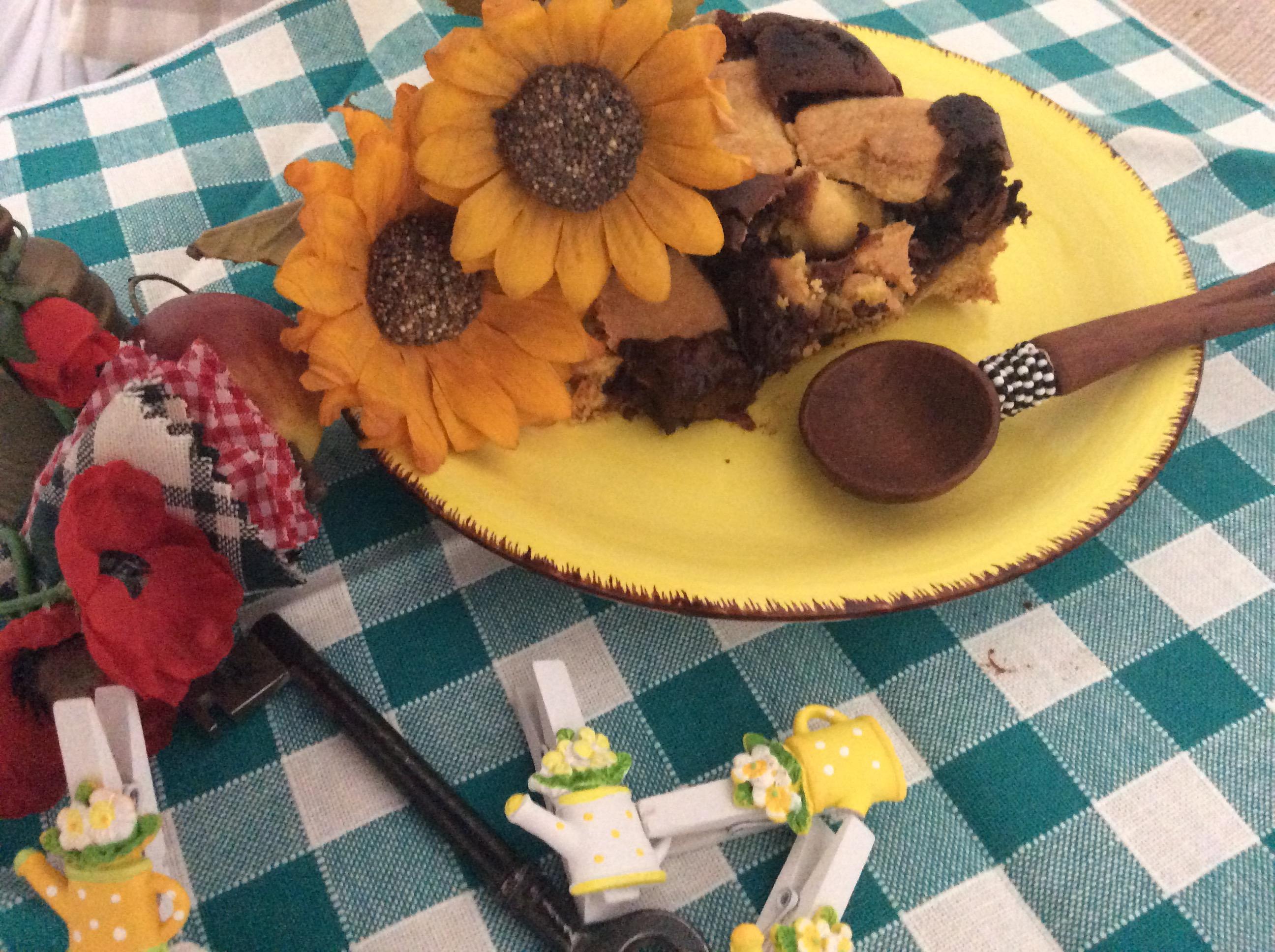 cuori di crema al cioccolato con pere