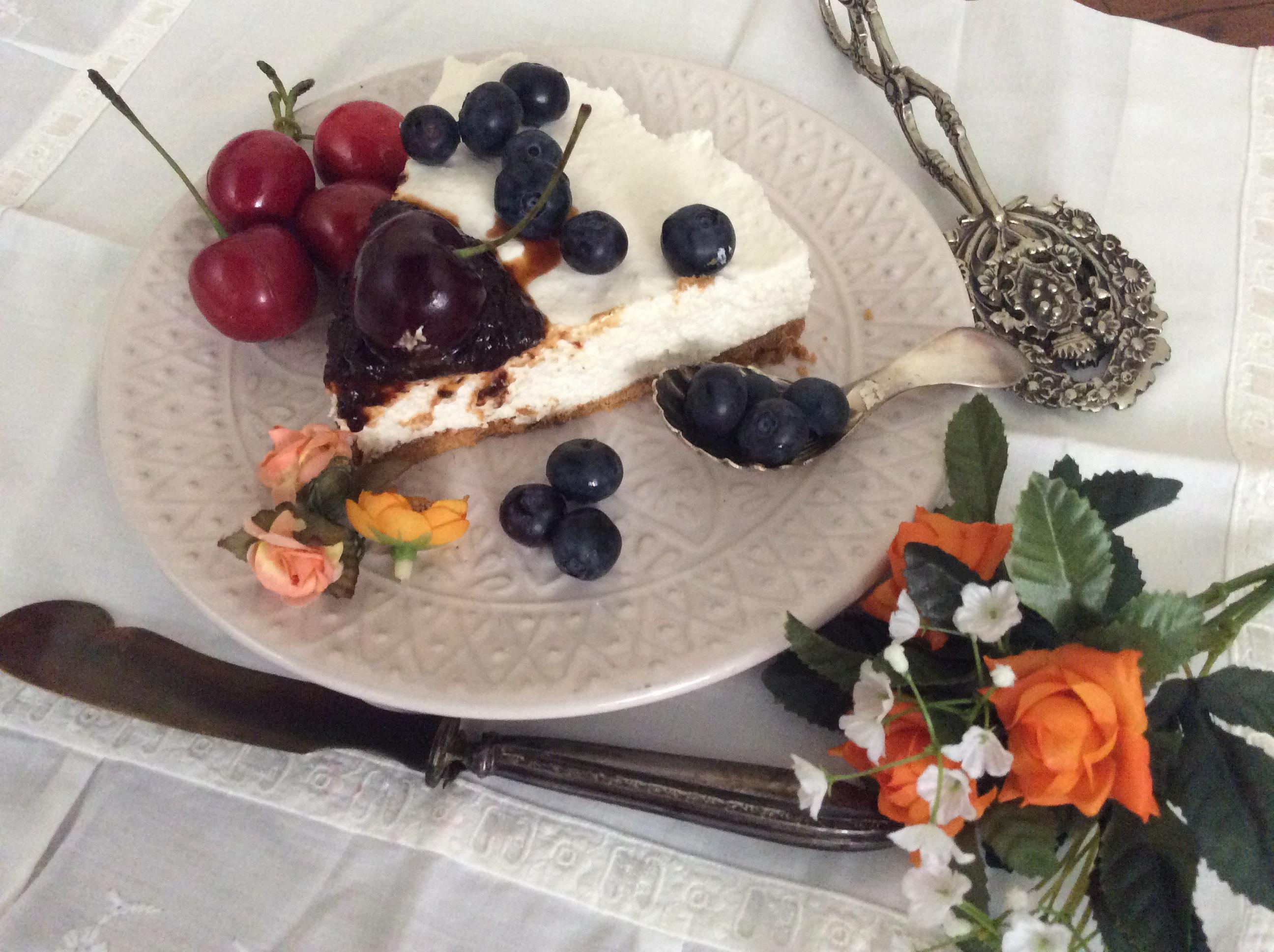 cheesecake senza cottura fetta