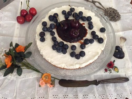 Cheesecake senza cottura con yogurt e panna