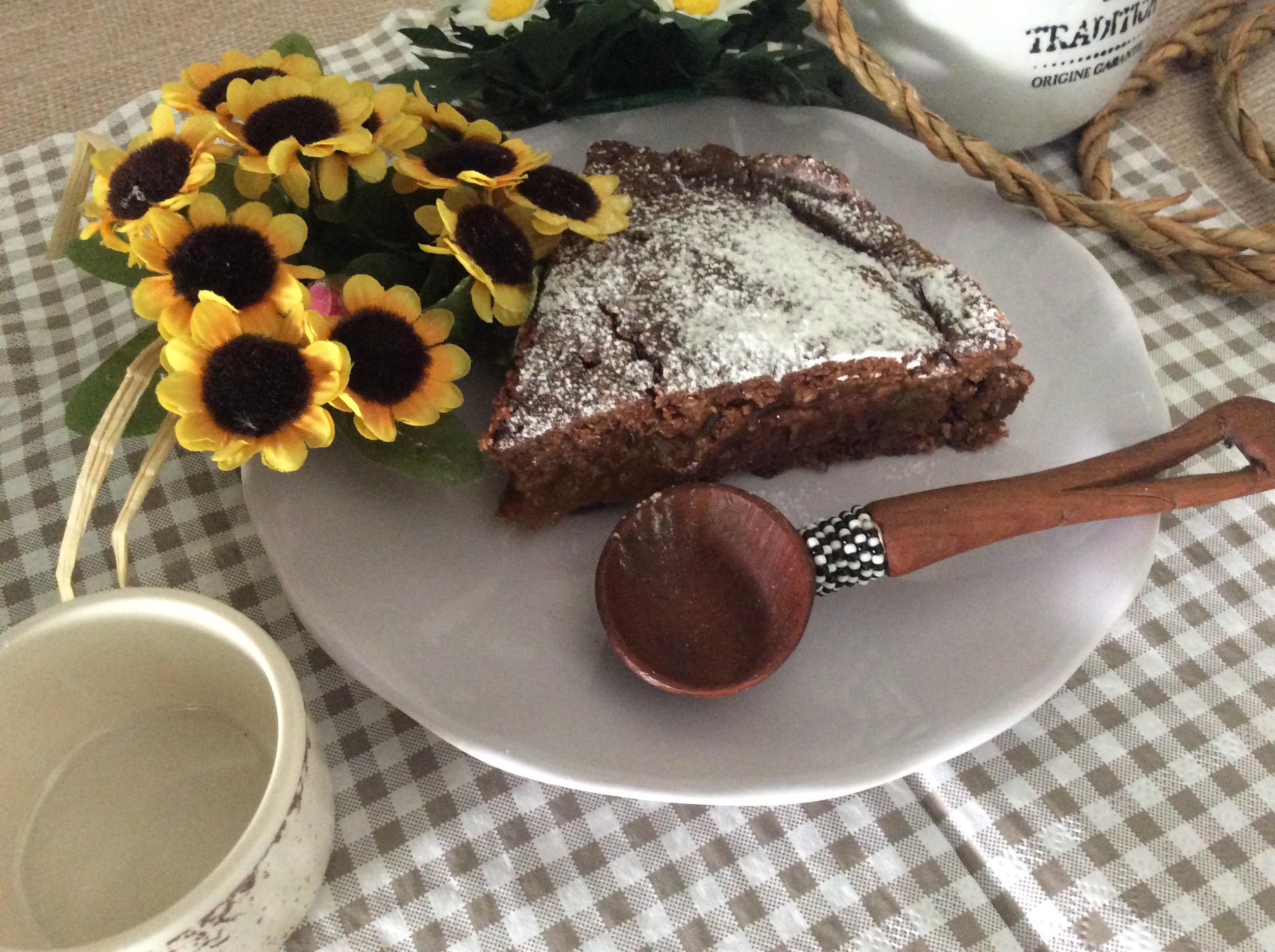 fetta di torta senza forno