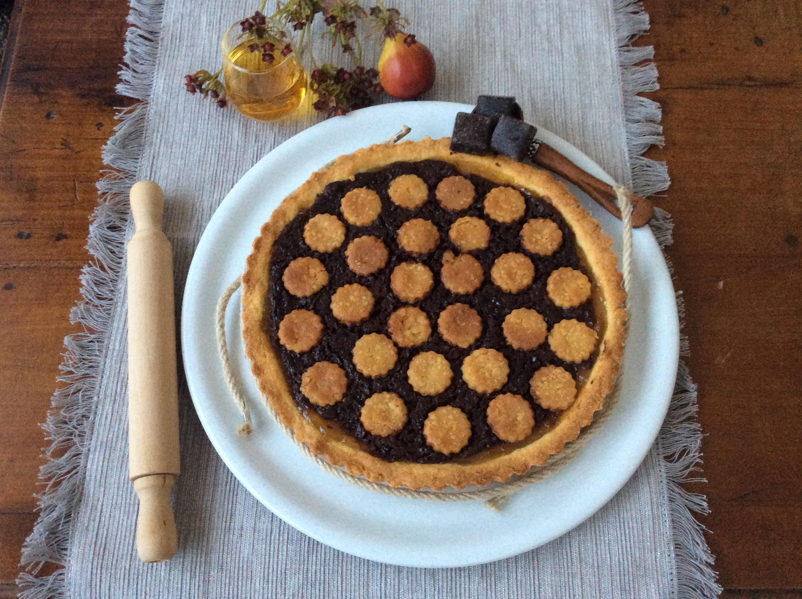 pere e cioccolato in crosta