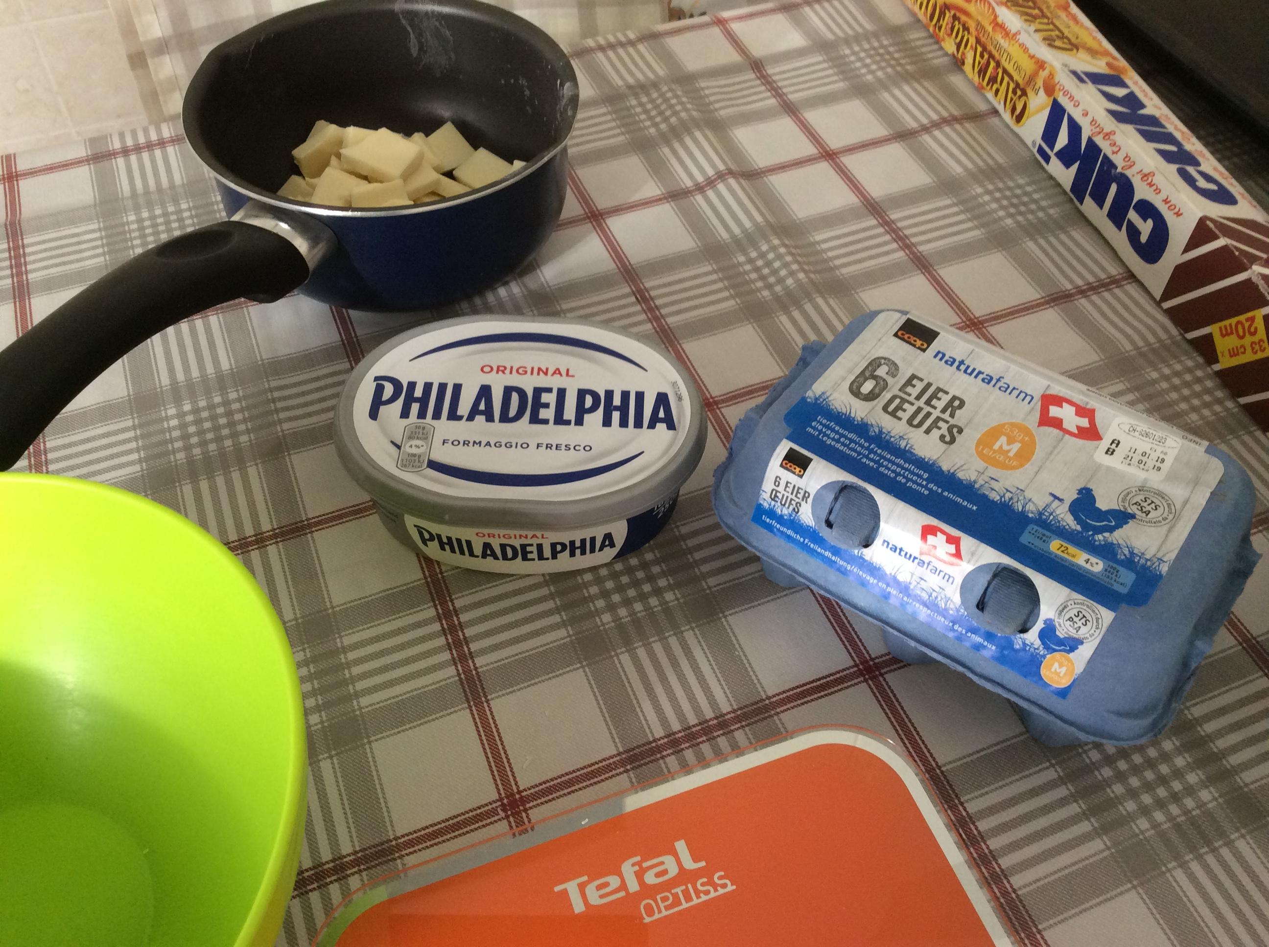 Philadelphia uova svizzere  ciok bianco