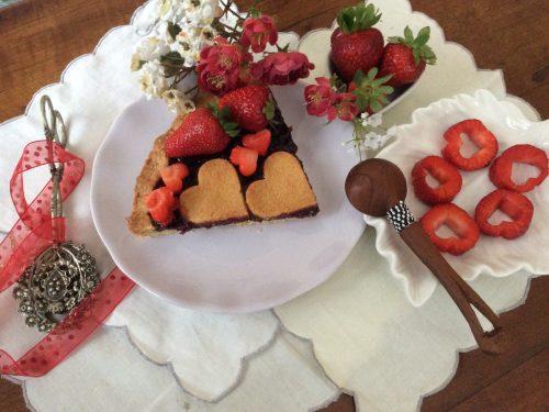 Crostata di marmellata e fragole