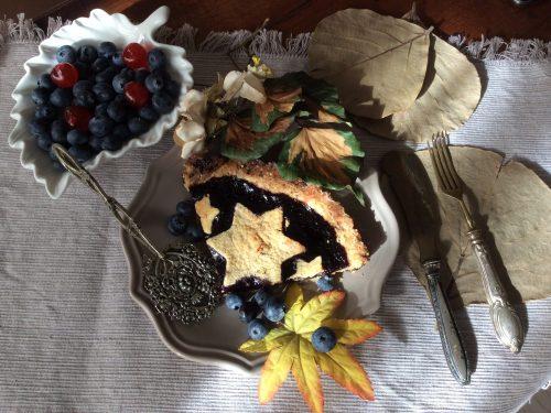 Crostata con frolla ai mirtilli