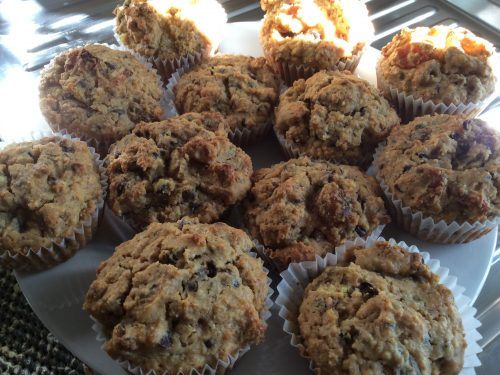 Muffin noci cioccolato e uvetta