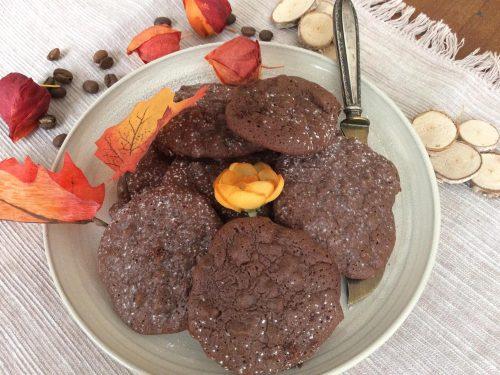 Biscotti Fudge al doppio cioccolato e caffè