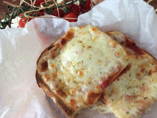 Pizza finta di pancarrè o pan bauletto