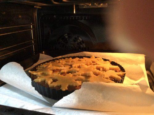 Crostata d'inverno con crema di ricotta e nutella