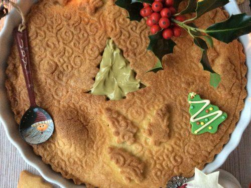 Crostata di Natale con crema al pistacchio