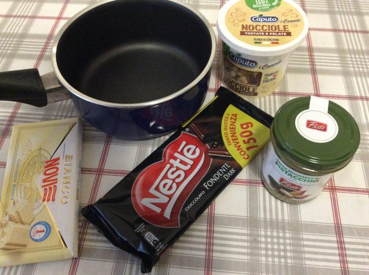 Ingredienti torroncini al pistacchio e nutella