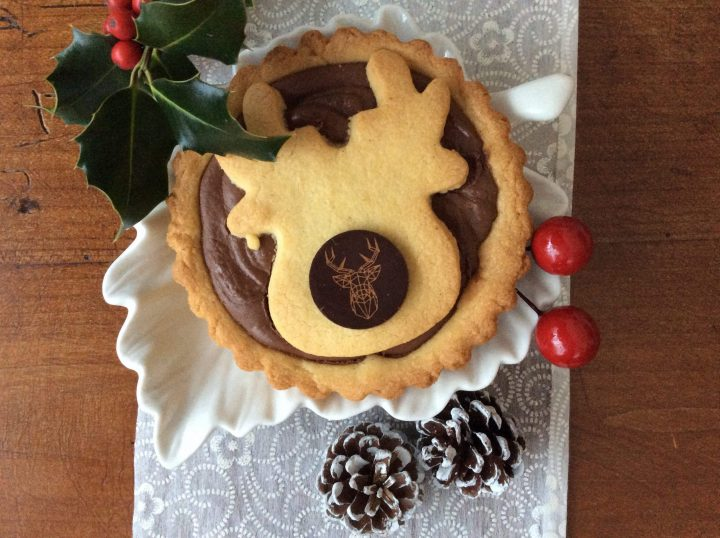 Crostatina con Nutella con decorazione a renna