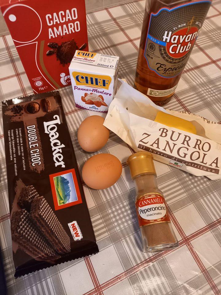 ingredienti goduria al cioccolato